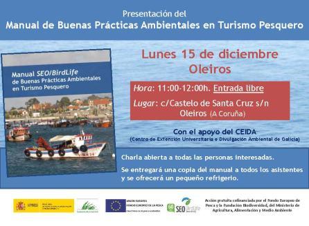 Cartel charla presentacion manual Buenas prácticas turismo pesquero_df_Oleiros